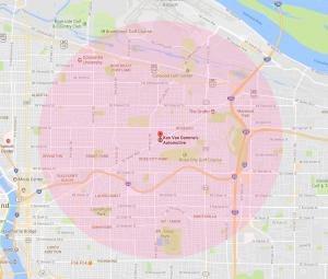 Towing Service Radius in Portland